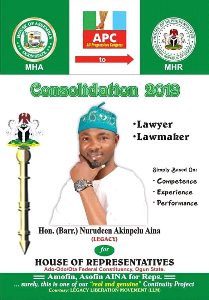 Hon. Aina Akinpelu Declares For House Of Representative In 2019 Elections, Battles Hon. Arugbo, Others For Party Ticket