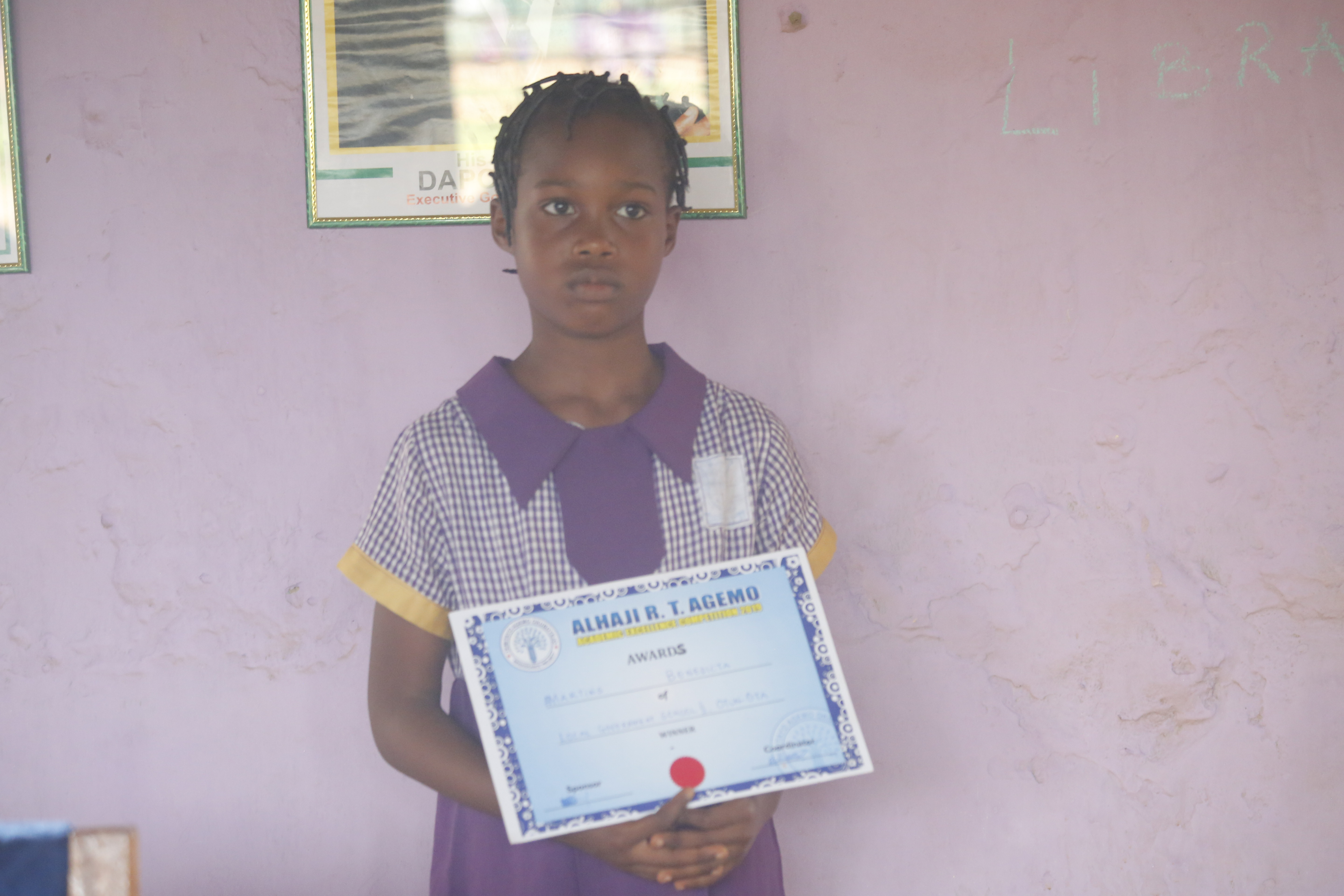10 Year Old Benedicta Of LG Pry School II Ota, Wins 2019 Agemo Academic Excellence  Competition