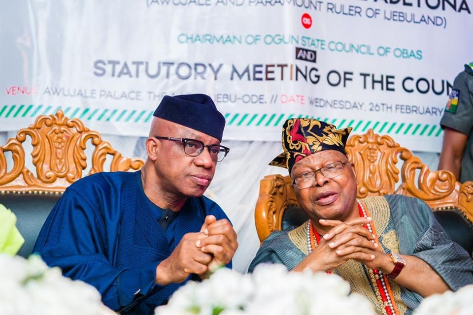 "Gov. Abiodun Seeks Monarchs' Support For ""Amotekun"""