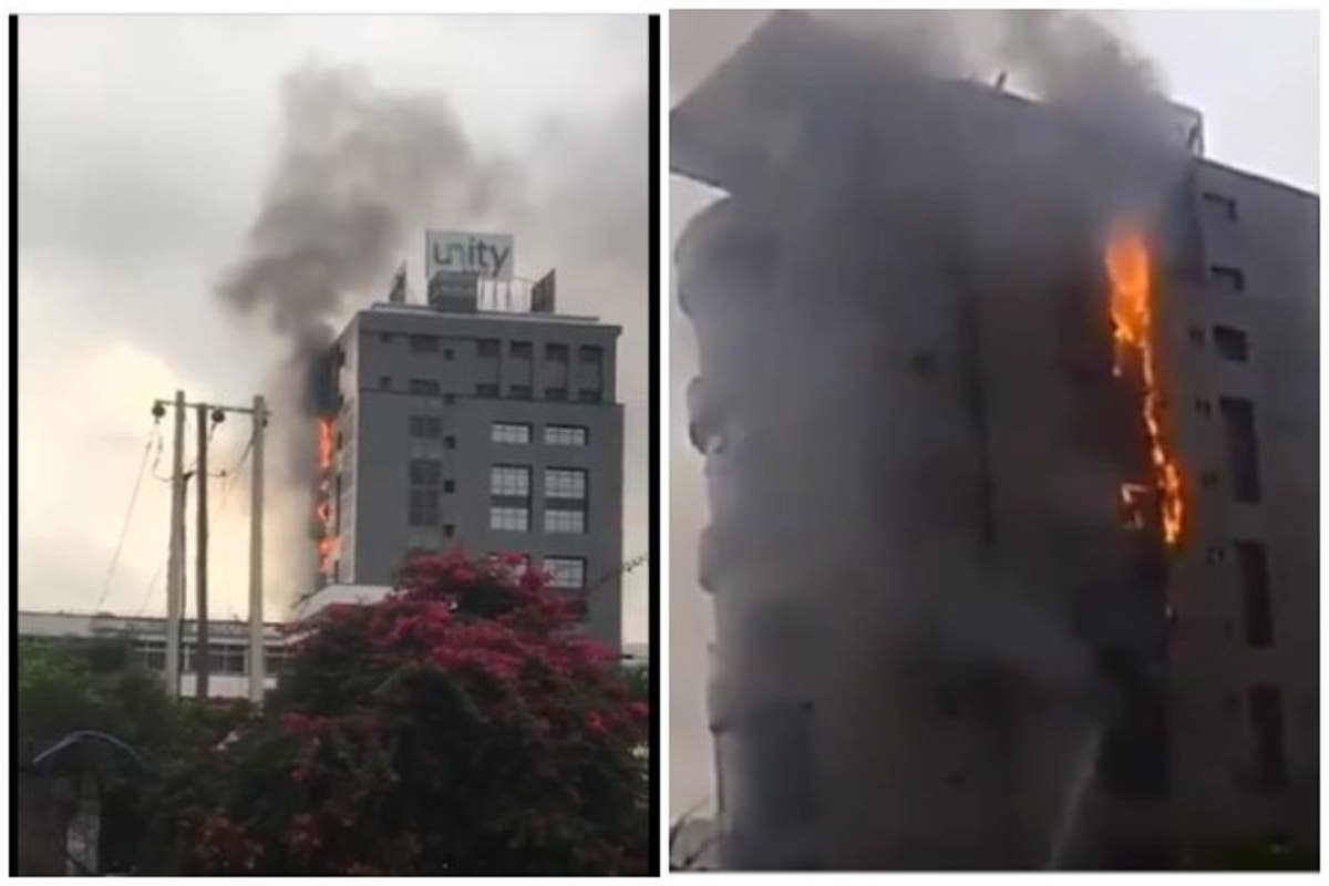 Fire Guts Two Bank Buildings In Lagos