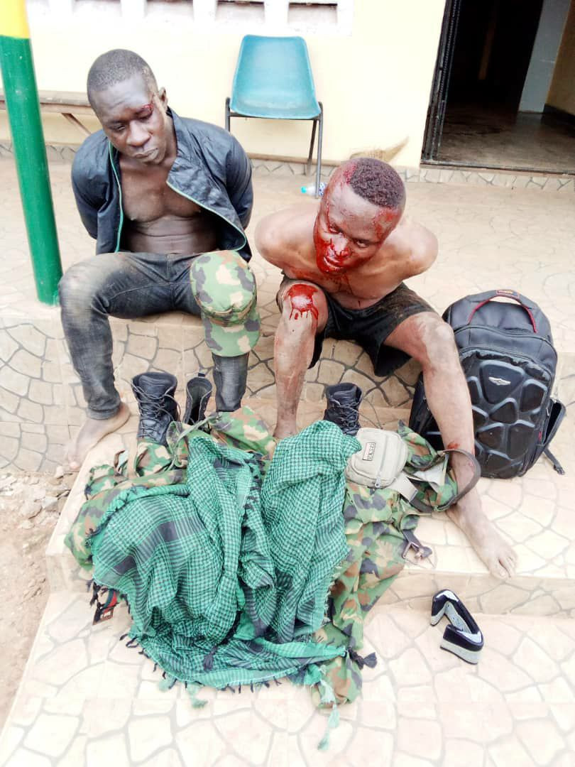 Ogun Police Rescue Two Suspected Robbers In Army Uniform From Angry Mob