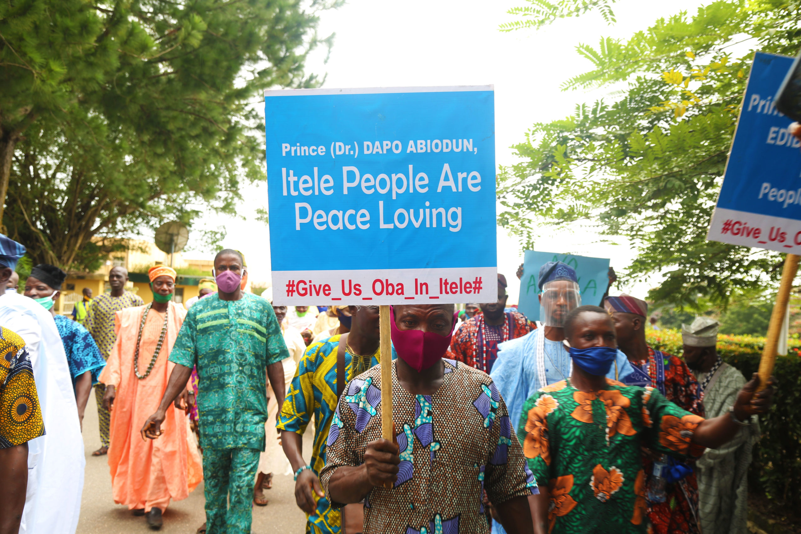 Protesters March In Demand Of Prince Ademola Asorota (Eletu Odibo) As Oba Of Itele-Ota, Charge State Government To Speed Up Selection Process