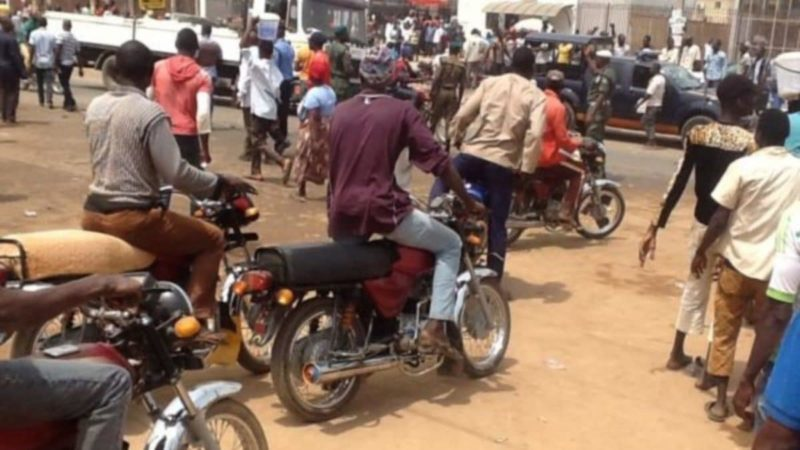 BREAKING: Chaos At Ikeja Along As Okada Riders Chase Lagos Task Force Officers