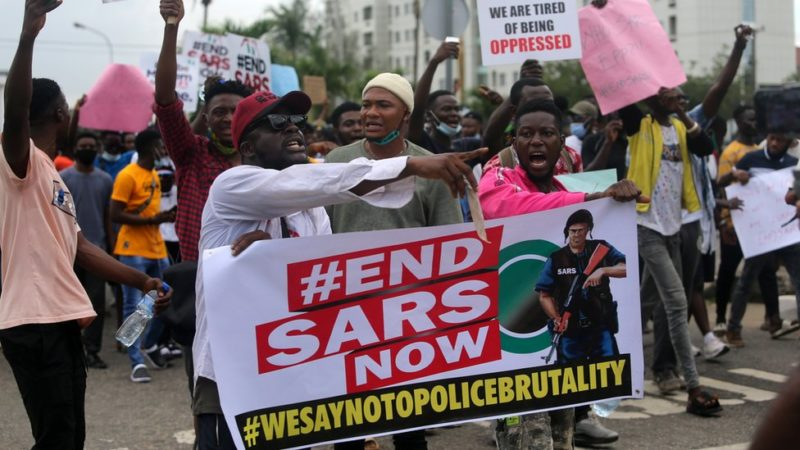 #EndSARS Protest: Heavy Security Presence At Lekki Tollgate