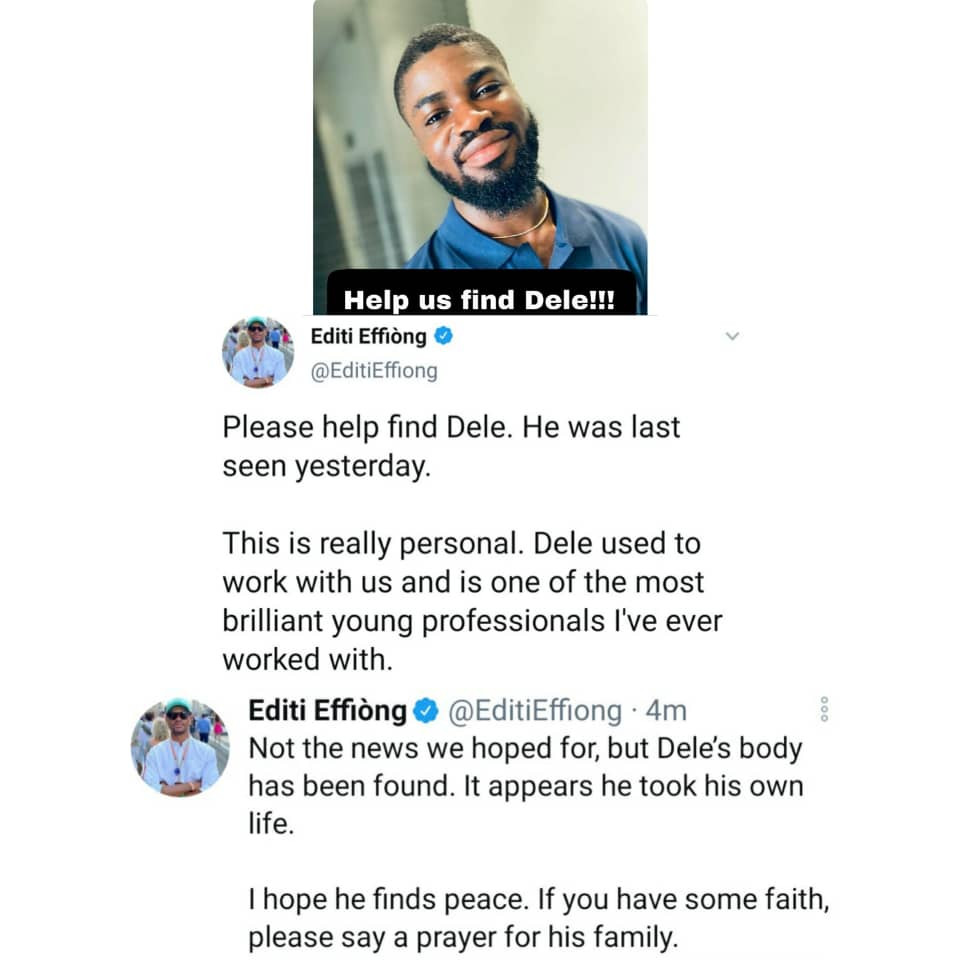 Man Declared Missing In Lagos Has Been Found Dead