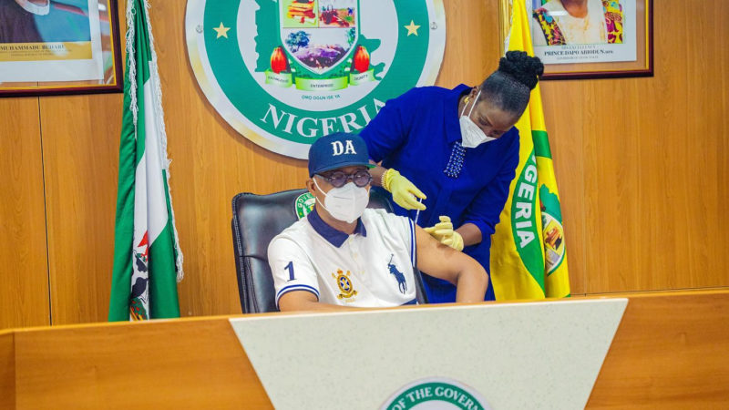 Ogun Governor, Deputy, Get Vaccinated As The State Takes Delivery Of 50, 000 Doses Of Covax Vaccines