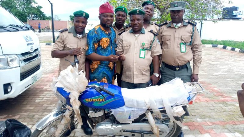 Fighting Insecurity: Olota Donates Motorcycle To So Safe Corps