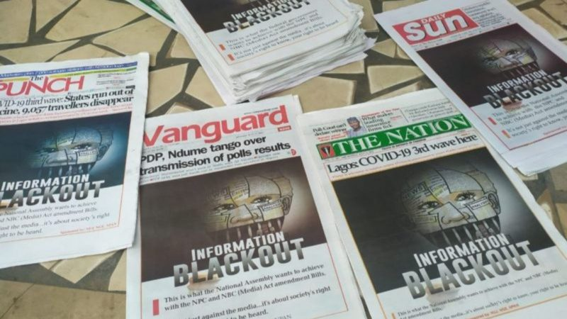 Information Blackout: Nigerian Newspapers Publish Same Protest Headlines On July 12