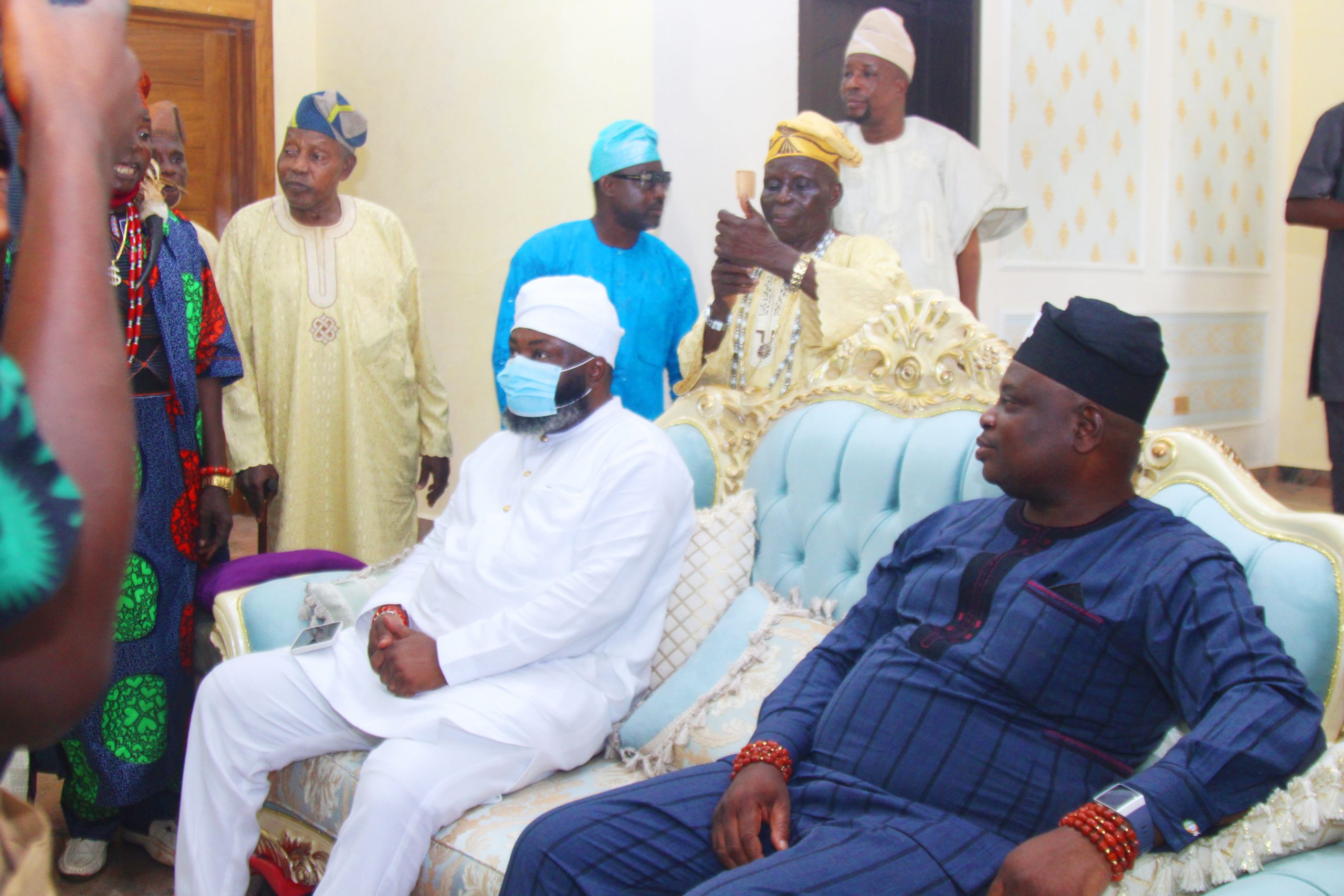 Indigenes, Residents Troop Out To Welcome Prince Ademola Eletu Asorota Back To His Country Home